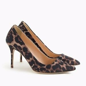 J. CREW Collection ELSIE LEOPARD PUMPS DUSTY CEDAR